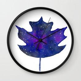 galaxy leaf Wall Clock