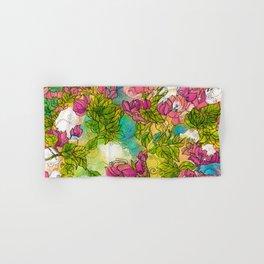 Tropical Flowers Hand & Bath Towel
