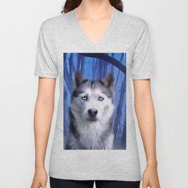 A Husky Dog. (Painting) Unisex V-Neck