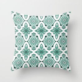 Marrakesh Tiles in Moroccan mint green Throw Pillow