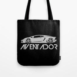 Lamborghini Aventador - silver - Tote Bag