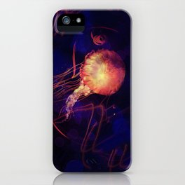 Jellyfish of the Blacklight Electro Rave iPhone Case