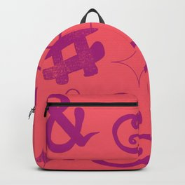 Hashtag ampersand bright Backpack