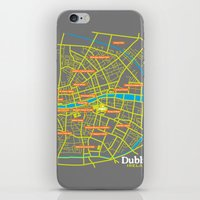 dublin iPhone & iPod Skins featuring Dublin by mattholleydesign