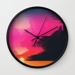 digital beachhead Wall Clock