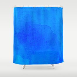 DARK BLUE WATERCOLOR BACKGROUND  Shower Curtain