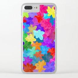 Pop Garden Clear iPhone Case
