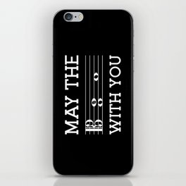 May the 4th be with you (dark colors/alto clef) iPhone Skin