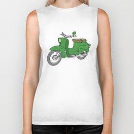 Schwalbe. Vintage motor scooter of GDR Biker Tank
