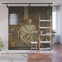 Michelangelo's Pieta in St. Peter's Basilica                                              Wall Mural