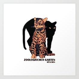 Munich Zoo Big Cats Art Print