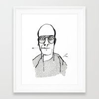 hunter s thompson Framed Art Prints featuring Hunter S Thompson by daniel davidson