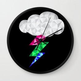 Polysexual Storm Cloud Wall Clock