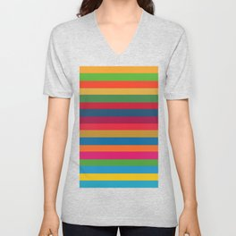 Color Stripes - horizontal - two Unisex V-Neck