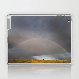 Rainbow after the Storm - Badlands National Park Laptop & iPad Skin