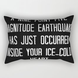 Ice Cold Heart Earthquake Rectangular Pillow