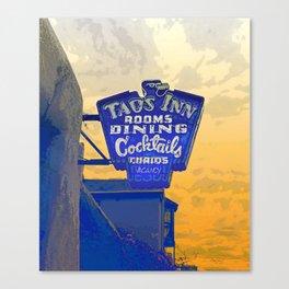 Taos Inn Sign  Canvas Print