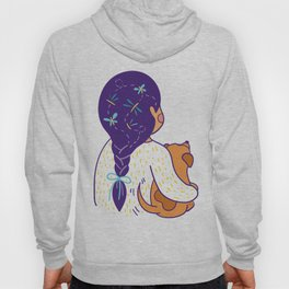 Purple haired Girl & Dog Hoody