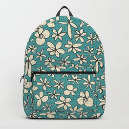 garland flowers blue Backpack