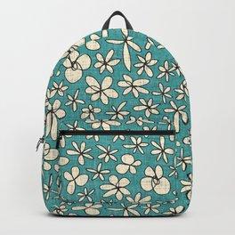 garland flowers blue Backpack