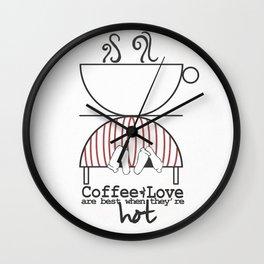 Coffee and Love Wall Clock