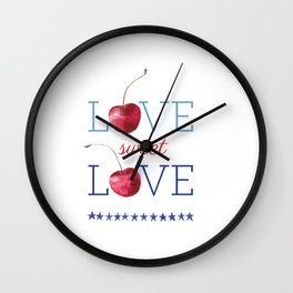 Love Sweet Love Wall Clock