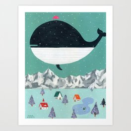 Whale in Aire Art Print