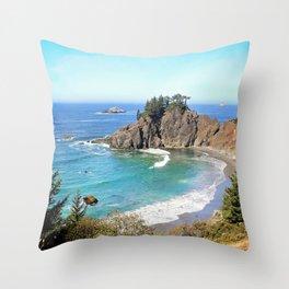 coastal overlook Throw Pillow