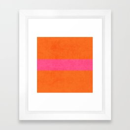 orange and hot pink classic Framed Art Print