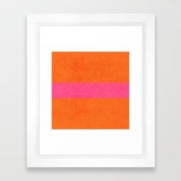 orange and hot pink classic Framed Art Print