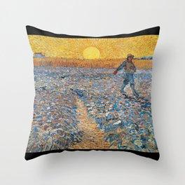 "Vincent Willem van Gogh, "" The Sower "" Throw Pillow"