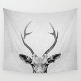 Deer - Black & White Wall Tapestry