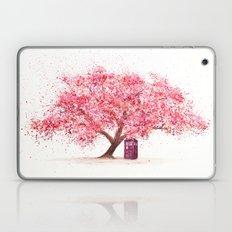 Tardis Art Autumn Tree Blossom Laptop & iPad Skin