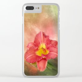 Beautiful day lily Clear iPhone Case