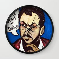 kubrick Wall Clocks featuring Kubrick by Hugo Maldonado