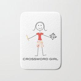 Funny Womens Crossword Puzzle Girl Bath Mat