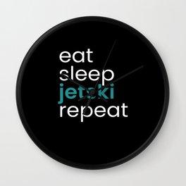 Eat Sleep Jetski Repeat Wall Clock