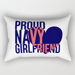Proud Navy Girlfriend Rectangular Pillow