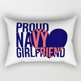 Proud Navy Girlfriend Rectangular Pillow