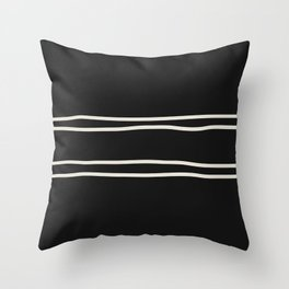 Double x Double Contrasting Lines Throw Pillow