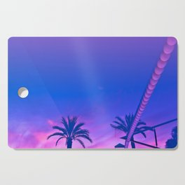 Palms and Sunset with Reverberation Cutting Board