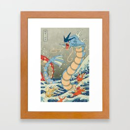 The Great Red Wave II Framed Art Print
