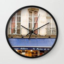 Paris Boulangerie Wall Clock