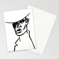 girl with hat Stationery Cards