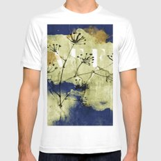 plant on blue wall Mens Fitted Tee White MEDIUM