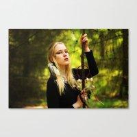 witchcraft Canvas Prints featuring Witchcraft by Aleksandra Walczak