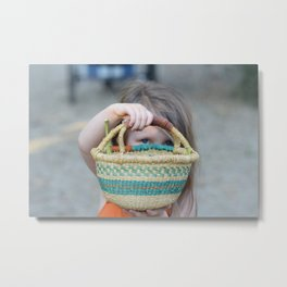 The Basket Metal Print