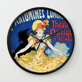 Vintage film history ad Jules Cheret Wall Clock
