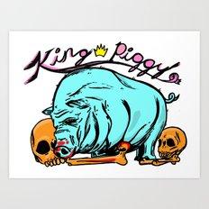 King Piggy Art Print