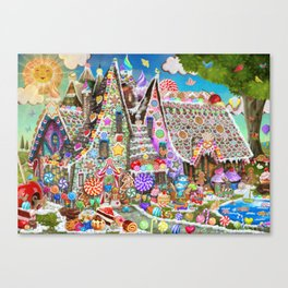 The Gingerbread Mansion Canvas Print